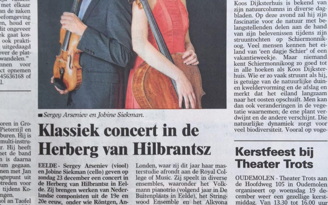 Duo concerts in newspapers